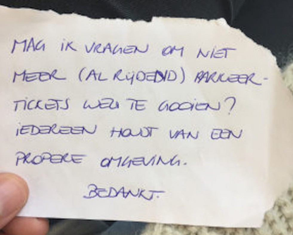 Over schaamteloosheid, betrappen en briefjes...