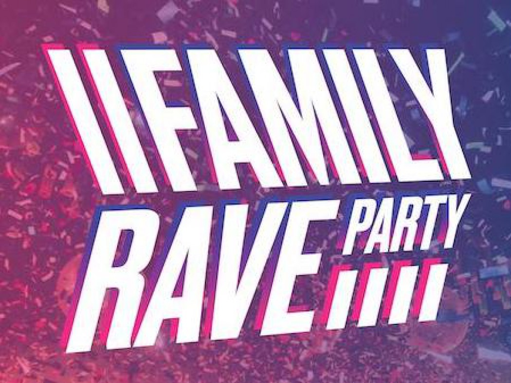 De Family Rave Party heeft een logo. En een website. En straks zijn we in Hasselt!